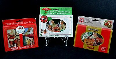 CLASSIC~(3)Coca Cola Limited Edition Collectable Tins Six (6) Decks of Cards NEW