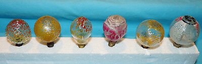 6 pcs~Antique~ELECTRIC~Screw in~GLASS LIGHT BULBS~Xmas Tree~ROSE~CHINESE LANTERN