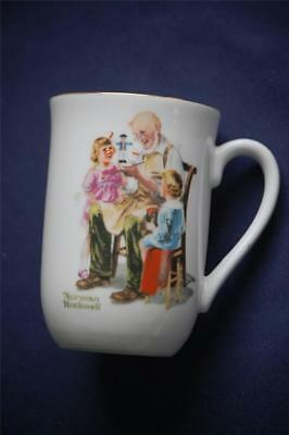 Artist Norman Rockwell Museum China Coffee Mug The Toy Maker Made in Japan 1982