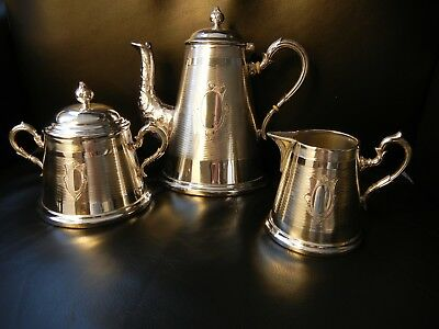 German WMF Silver Plated Coffee and Tea Set Excellent Condition