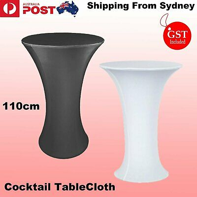 60x110cm Black White Cocktail Round Table Cloth Set Cover Spandex Wedding Party