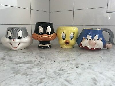 Warner Bros. Looney Toons Coffee Mugs by Applause 1992