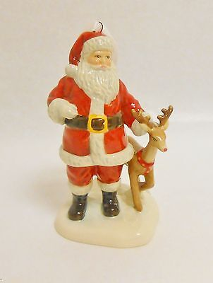 Royal Doulton Santa and Reindeer Christmas Ornament New in Box