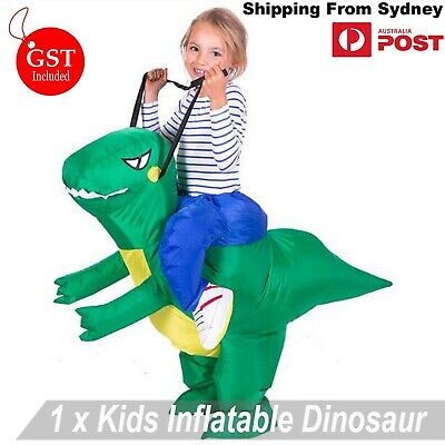 Kids Inflatable Dinosaur Suit  Fancy Dress Up Riding Costume Halloween Children