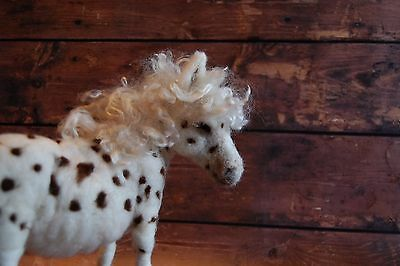 Needle Felted Spotted Appaloosa Pony Horse Animal Mohair Wool Art Sculpture