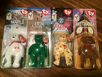 McDonald's Beanie Babies Bears 1999 Complete Collection of Four