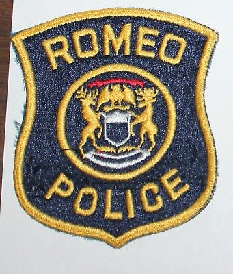 Very Old ROMEO POLICE Michigan MI PD Vintage patch