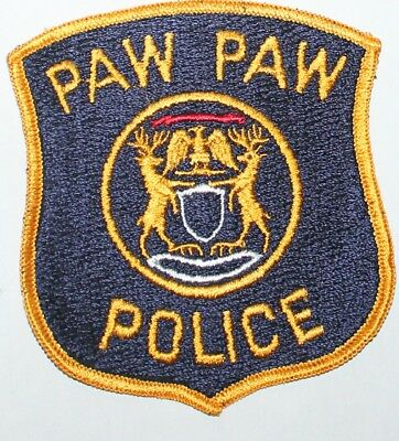 Old PAW PAW POLICE Michigan MI PD Vintage patch