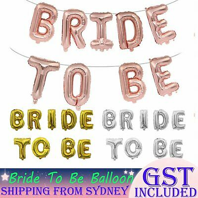 BRIDE TO BE Foil Balloons Wedding Balloon Bridal Hen's Night Party Decoration 3D