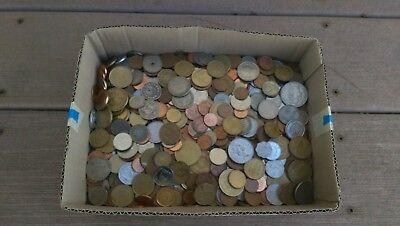 10.2 LBS  - World Coin Lot of Miscellaneous Foreign Coins