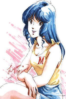 Macross Lynn Minmay With Yellow Tank Top Poster 12inchesx18inches Free Shipping