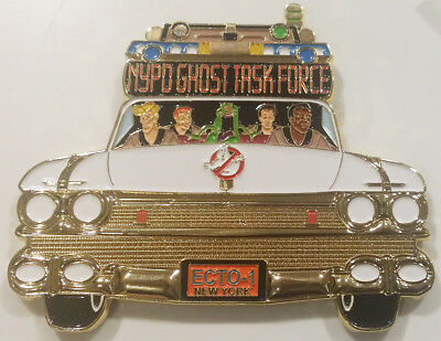 NYPD Ghostbusters Ecto 1 Jack Maple New York City Police Challenge Coin