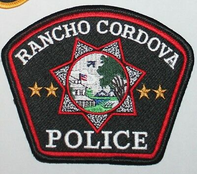 RANCHO CORDOVA POLICE Sacramento County Sheriff California US Flag Version CA PD