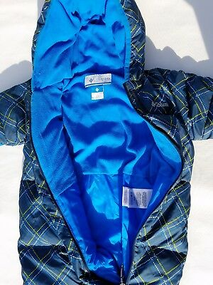 Columbia Boys Down Coat Blue Bunting Snowsuit Infant Baby 3-6 Months