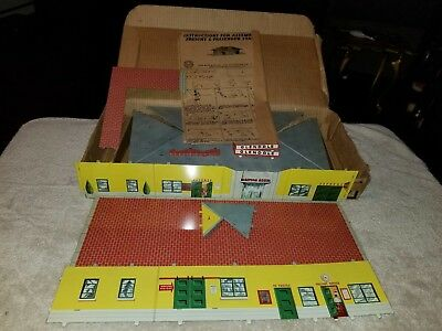 MARX GLENDALE O TIN STATION 552376 In Original Box with Instruction.