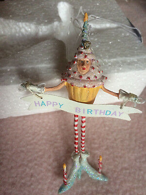 Dept 56 Birthday Krinkles Cupcake Mini Ornament By Patience Brewster