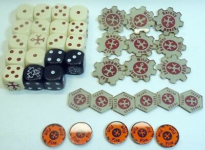 Warmachine Protectorate Menoth Lot of Dice and Tokens Privateer Press