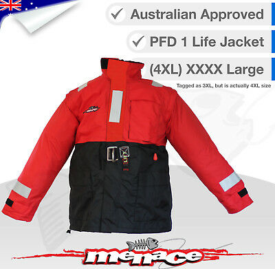 4XL PFD Inflatable Life Jacket Stormy Weather Boating Fishing Self Inflating