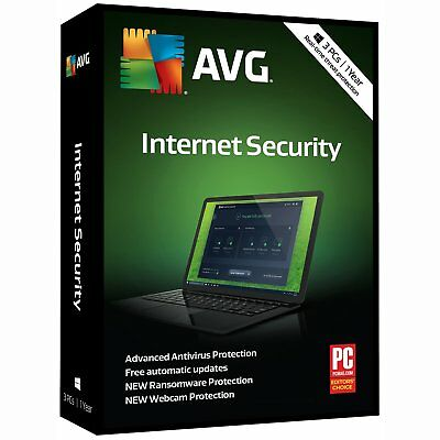 AVG  Internet Security 2018,  1 Year subscription (digital delivery)