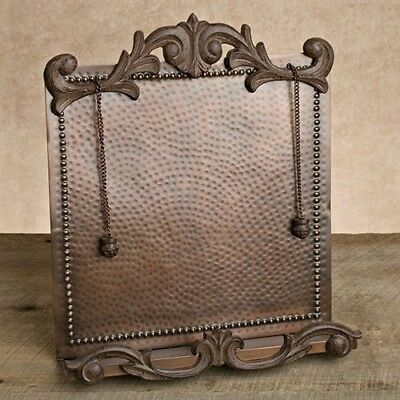 The GG Collection Hammered Copper Cookbook Stand