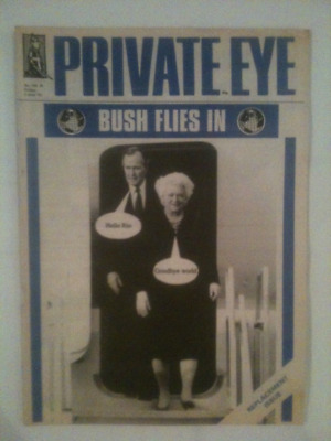 PRIVATE EYE UK MAGAZINE FEATURING GEORGE BUSH FRONT COVER 5th JUNE 1992 No. 795