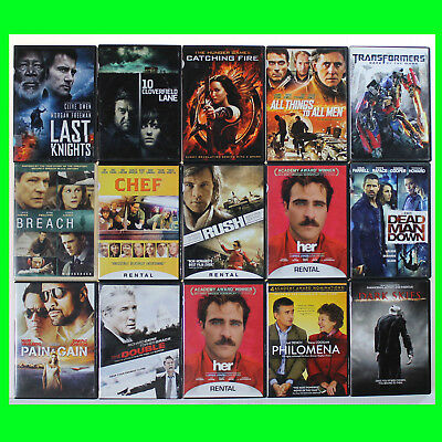 LOT of 15 DVDs Newer Titles Popular & Indie Movies good condition used dvds 081