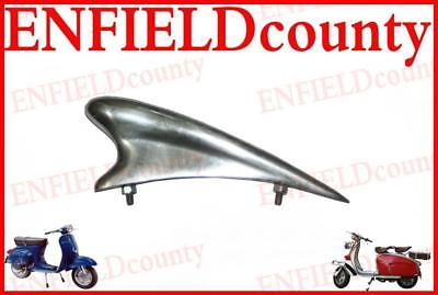 "Brand New Vespa Front Mudguard Tear Drop Chrome Plated Trim Crest 6"" Super @aud"