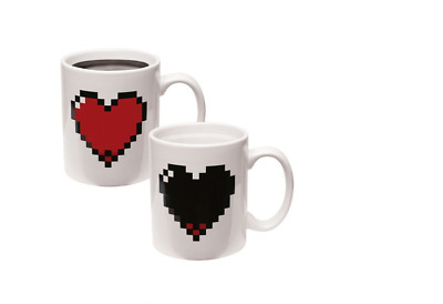 Color Changing Heart Mug  Heart PIEXL HEART MORPH MUG Christmas Gift Love Gift