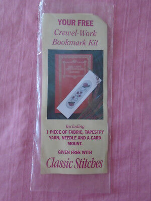 Crewel-work Bookmark Kit.