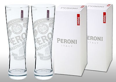 Peroni Pint Glasses (Set of 2) In Peroni Gift Boxes. Free Postage.
