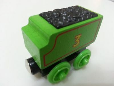 Thomas & Friends No.3 Henry Tender Magnetic Wooden Toy Train Loose New In Stock