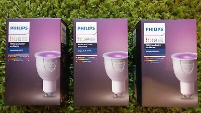2x Philips Hue GU10 Colour And White Ambiance Wireless Lighting LED changing