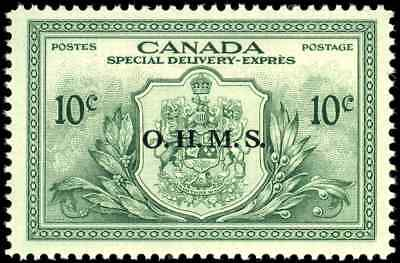 Canada #EO1 mint VF OG NH 1950 Special Delivery 10c green 'OHMS' Overprint