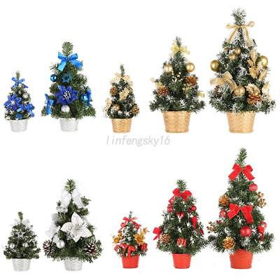 Mini Christmas Tree Decor Desk Table Festival Party Ornament Xmas 20/30/40cm US