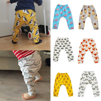 Infant Baby Harem Pants Toddler Boys Girls Animal Pattern Soft Leggings Trousers