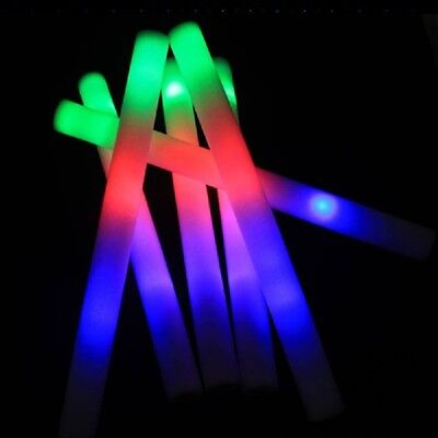 LED Light Up Foam Sticks Wands Flashing Glow Stick Concert Supplies set