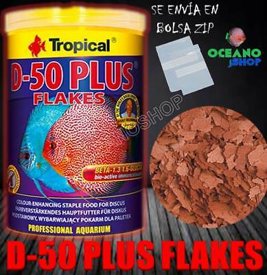Tropical D-50 Plus Flakes Alimento Escamas Tropicales Ciclidos Realzador Color