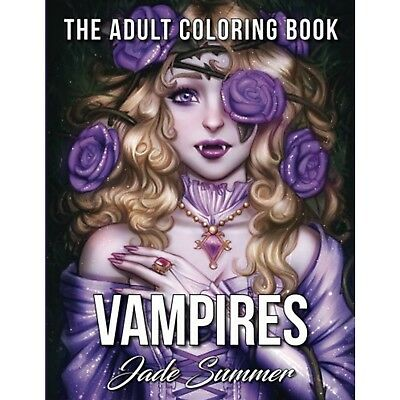 Vampire Adult Colouring Book Dark Fantasy Gothic Mystical Magical Halloween Gift