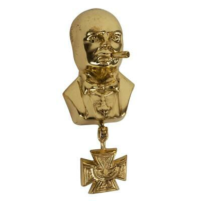 Polished Brass Winston Churchill Door Knocker - Size 175mm Approx