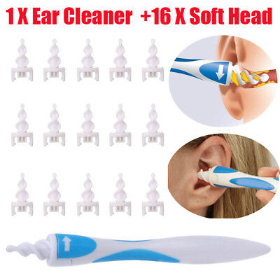 Smart Ear Wax Cleaner Removal Smart Swab Earwax Remover Spiral Safe Tool Pro