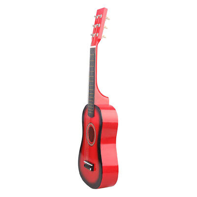 Mini Acoustic Wooden Guitar Red 23 Inch Portable for Kids & Student Beginner