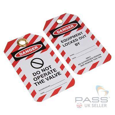 Lockout Tagout Tags - 'Do Not Operate the Valve Tag' - Pack of 10