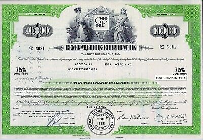 General Foods Corporation 1976, 7 1/2% Note due 1984 (10.000 $)