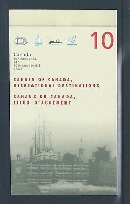 Canada Booklet 1998 Canals #BK208a MNH