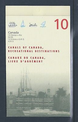 Canada Booklet 1998 Canals #BK208b MNH