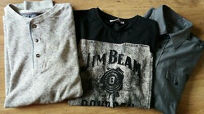 Mens Clothes Bundle Next  Jumper Shirt   Jim Beam T Shirt   Large Fab Condition