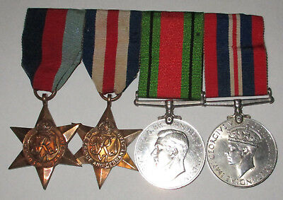 Original 1939-1945 Star, France & Germany Star, War & Defence Medals, mounted