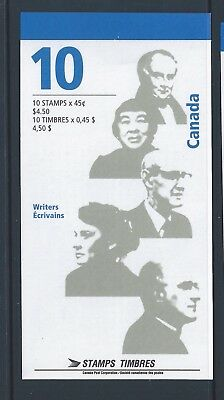 Canada Booklet 1996 Authors #BK195a MNH