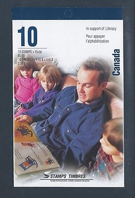 Canada Booklet 1996 Literacy + Surcharge #BK193b MNH