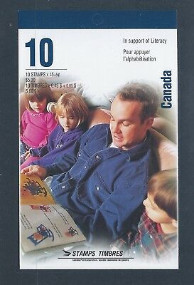 Canada Booklet 1996 Literacy + Surcharge #BK193a MNH